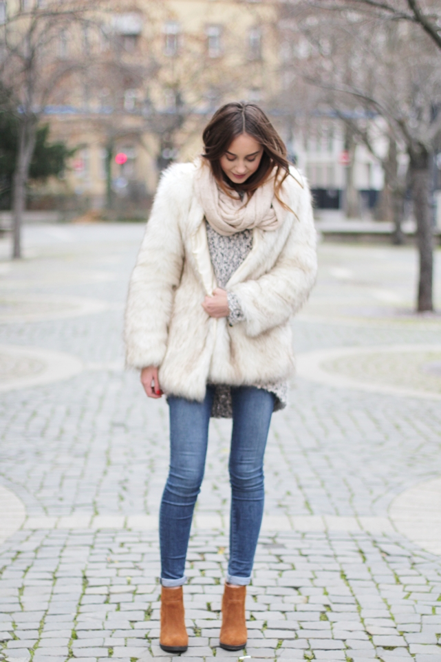 fake fur jacket outfit hypnotized blog