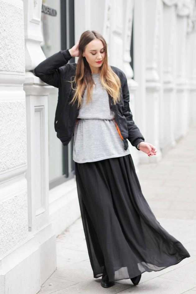 Maxirock-Bomberjacke-Modeblog-Fashionblog-Outfit-2